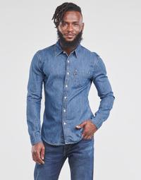 Abbigliamento Uomo Camicie maniche lunghe Levi's SUNSET 1 PKT SLIM Blu