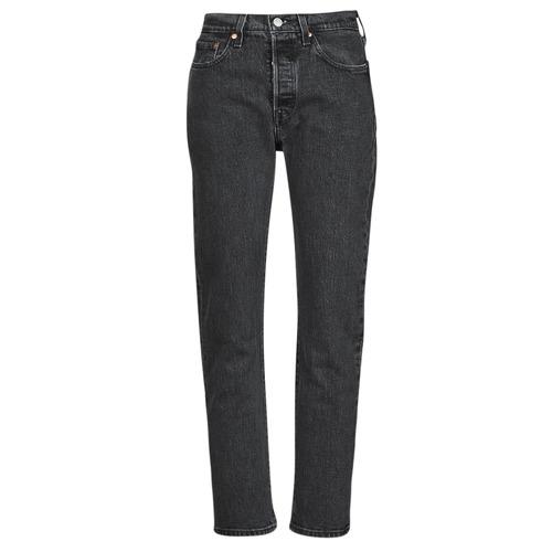 Abbigliamento Donna Jeans boyfriend Levi's 501 CROP Nero