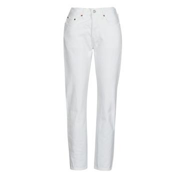 Abbigliamento Donna Jeans boyfriend Levi's 501 CROP Bianco