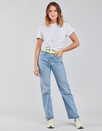 Abbigliamento Donna Jeans dritti Levi's RIBCAGE STRAIGHT ANKLE Blu