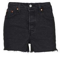 Abbigliamento Donna Shorts / Bermuda Levi's RIBCAGE SHORT Nero