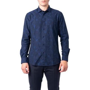 Abbigliamento Uomo Camicie maniche lunghe Idra BU21W07CA Blu