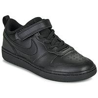 Scarpe Unisex bambino Sneakers basse Nike COURT BOROUGH LOW 2 PS Nero
