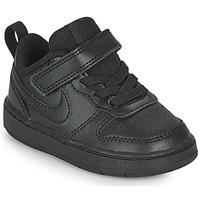 Scarpe Unisex bambino Sneakers basse Nike COURT BOROUGH LOW 2 TD Nero