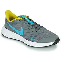 Scarpe Bambino Multisport Nike REVOLUTION 5 GS Grigio / Blu