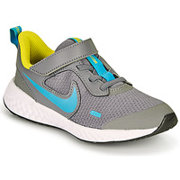 Scarpe Bambino Multisport Nike REVOLUTION 5 PS Grigio / Blu