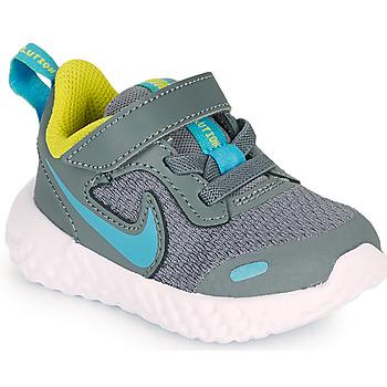 Scarpe Bambino Multisport Nike REVOLUTION 5 TD Grigio / Blu