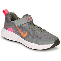 Scarpe Bambina Multisport Nike WEARALLDAY PS Grigio / Rosa