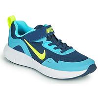 Scarpe Bambino Multisport Nike WEARALLDAY PS Blu / Verde