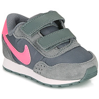Scarpe Bambina Sneakers basse Nike MD VALIANT TD Grigio / Rosa