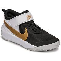 Scarpe Unisex bambino Multisport Nike NIKE TEAM HUSTLE D 10 Bianco / Nero / Oro
