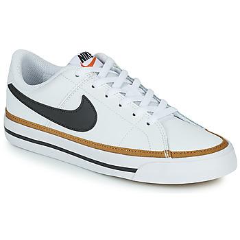 Scarpe Unisex bambino Sneakers basse Nike NIKE COURT LEGACY Bianco / Nero