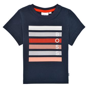 Abbigliamento Bambino T-shirt maniche corte BOSS ENOLITO Marine