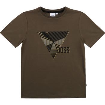 Abbigliamento Bambino T-shirt maniche corte BOSS J25L02-64C-B Kaki