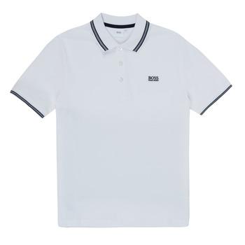 Abbigliamento Bambino Polo maniche corte BOSS TONNELA Bianco