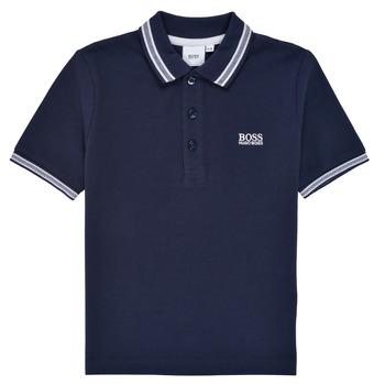 Abbigliamento Bambino Polo maniche corte BOSS TONNELA Marine