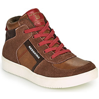 Scarpe Bambino Sneakers alte Redskins LAVAL KID Marrone / Rosso