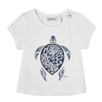 Abbigliamento Bambina T-shirt maniche corte Ikks XS10070-19 Bianco