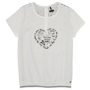 Abbigliamento Bambina T-shirt maniche corte Ikks XS10242-19-C Bianco