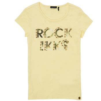 Abbigliamento Bambina T-shirt maniche corte Ikks XS10182-73-J Giallo