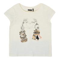 Abbigliamento Bambina T-shirt maniche corte Ikks XS10002-11-C Bianco