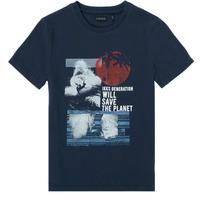 Abbigliamento Bambino T-shirt maniche corte Ikks XS10013-48-C Marine