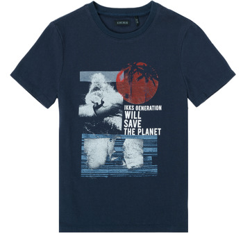 Abbigliamento Bambino T-shirt maniche corte Ikks XS10013-48-J Marine