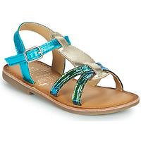 Scarpe Bambina Sandali Mod'8 CALICOT Turquoise / Oro