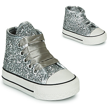 Scarpe Bambina Sneakers alte Citrouille et Compagnie OUTIL Argento