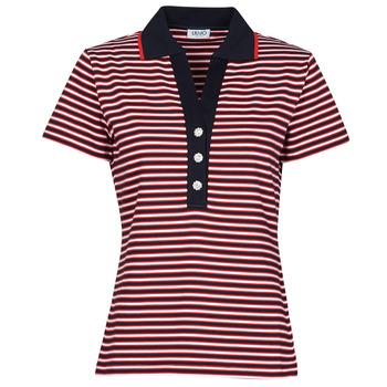 Abbigliamento Donna Polo maniche corte Liu Jo WA1142-J6183-T9701 Marine / Bianco / Rosso