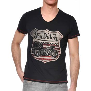 Abbigliamento Uomo T-shirt maniche corte Von Dutch VD/TVC/OVER Nero