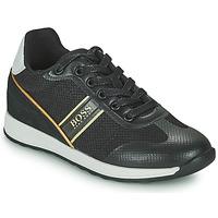 Scarpe Bambino Sneakers basse BOSS TRAMMI Nero / Oro