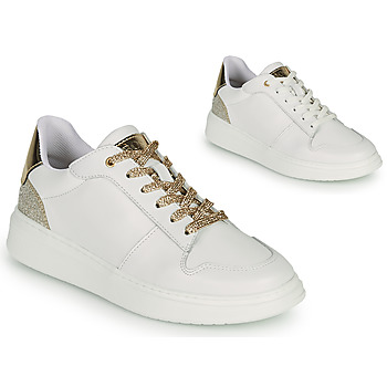 Scarpe Bambina Sneakers basse BOSS NILLA Bianco / Oro