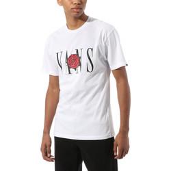 Abbigliamento T-shirt maniche corte Vans Kw classic rose s Bianco