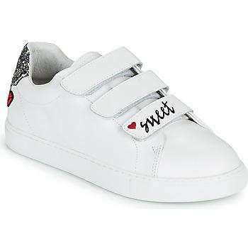 Scarpe Donna Sneakers basse Bons baisers de Paname EDITH SWEET HEART Bianco