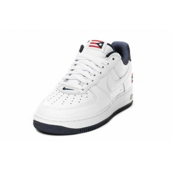 Scarpe Sneakers basse Nike Air Force 1 Low Puerto Rico True White/True White-Obsidian-Comet Red