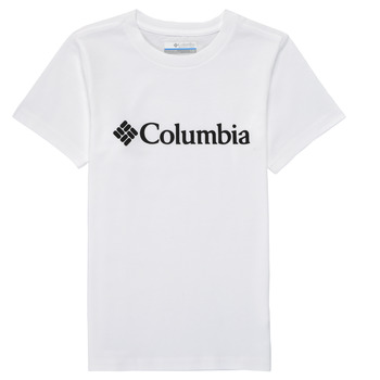 Abbigliamento Bambino T-shirt maniche corte Columbia CSC BASIC LOGO YOUTH Bianco
