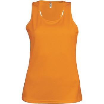 Abbigliamento Donna Top / T-shirt senza maniche Proact Débardeur femme  Sport orange