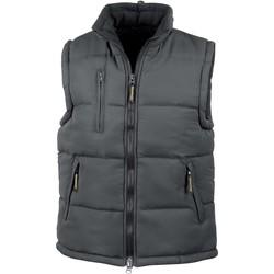 Abbigliamento Gilet / Cardigan Result Doudoune Sans Manche  Doublé noir
