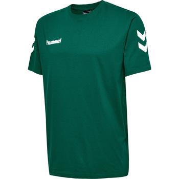 Abbigliamento Unisex bambino T-shirt maniche corte Hummel T-shirt enfant  hmlgo cotton vert sapin
