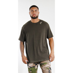 Abbigliamento Uomo T-shirt maniche corte Sixth June T-shirt  logo épaule kaki