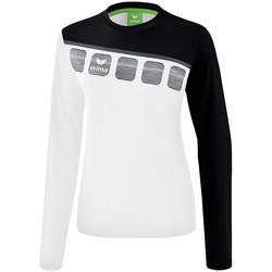Abbigliamento Donna Felpe Erima Haut d'entrainement femme manches longues  5-C blanc/noir/gris