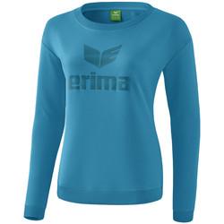 Abbigliamento Donna T-shirts a maniche lunghe Erima Sweat-shirt femme  Essential bleu clair/bleu