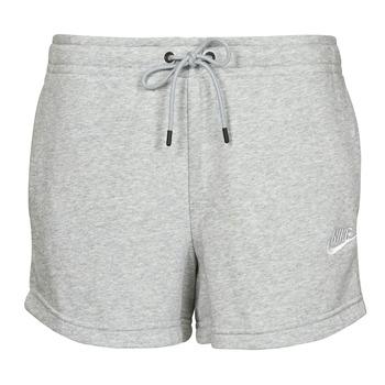 Abbigliamento Donna Shorts / Bermuda Nike NSESSNTL FLC HR SHORT FT Grigio / Bianco