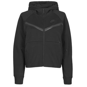 Abbigliamento Donna Giacche sportive Nike NSTCH FLC WR ESSNTL FZ HDY Nero