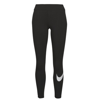 Abbigliamento Donna Leggings Nike NSESSNTL GX MR LGGNG SWSH Nero / Bianco