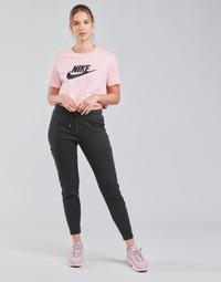 Abbigliamento Donna Pantaloni da tuta Nike NSAIR PANT FLC MR Nero / Bianco