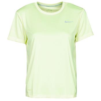 Abbigliamento Donna T-shirt maniche corte Nike MILER TOP SS Verde / Grigio