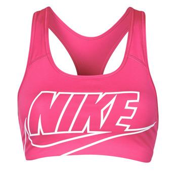 Abbigliamento Donna Reggiseno sportivo Nike DF SWSH FUTURA GX BRA Rosa / Bianco
