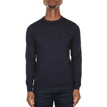 Abbigliamento Uomo Maglioni Sun68 K40101 - 07 NAVY BLUE Blu